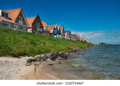 VOLENDAM - 7JULY: view of famous fishing village of Volendam, The Netherlands on 7 Juli 2018. Volendam is the most popular fishing village in the Netherlands with over 1 million tourists per year.