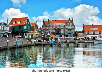 Volendam - charming dutch fishing village, small town in North Holland near Amsterdam, Netherlands
