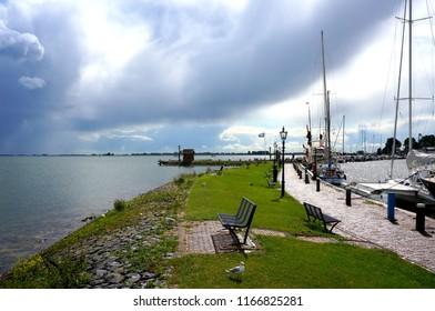 Volendam harbor, The Netherlands