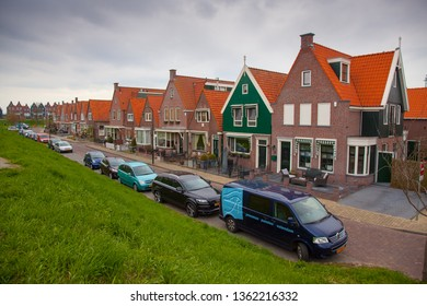 VOLENDAM, THE NETHELANDS - APRIL 07, 2012:  village Volendam. Houses