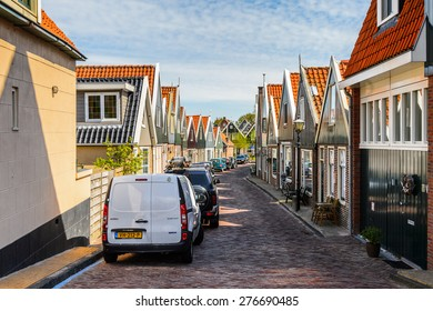 VOLENDAM, NETHERLANDS - MAY 2, 2015: Architecture of Volendam, Netherlands. Volendam is a popular touristic destination in North Holland