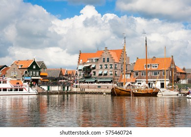 Volendam, a touristic fishing town in The Netherlands