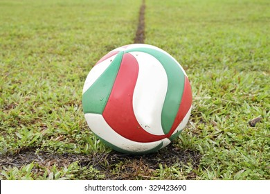Voleyball in grass