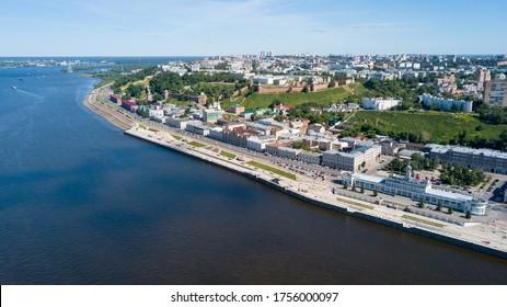 Volga river embankment in Nizhny Novgorod