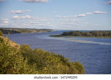 Volga river in Samara Russia