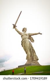 Volgograd, Volgograd region, Russia, 10.01.2017. Attraction of the city of Volgograd, sculptures on Mamaev Kurgan