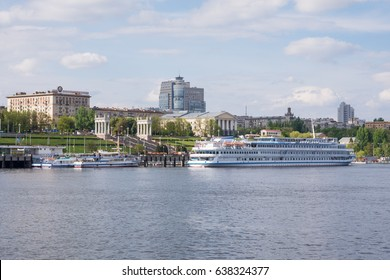 Volgograd. Russia-11 May 2017. Cruise ships on the quay of the River station of the Central waterfront Volgograd