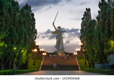 "Volgograd/Russia-18.06.2016:The statue of ""The Motherland Calls"" on Mamayev Kurgan"