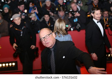 Volker Schloendorff poses on the red carpet during opening ceremony of the 67th Berlinale International Film Festival at Grand Hyatt Hotel in Berlin, Germany on February 9, 2017.