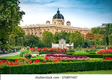 The Volksgarten (People's Garden) in Vienna, Austria
