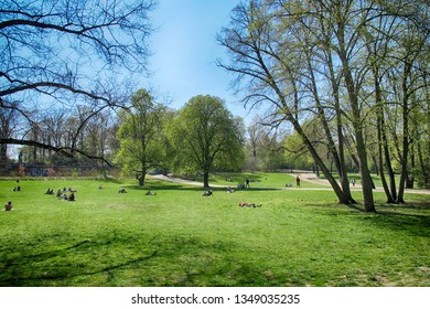 Volkspark Hasenheide in Berlin Kreuzberg in springtime