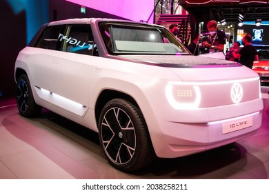 Volkswagen ID Life Concept electric car showcased at the IAA Mobility 2021 motor show in Munich, Germany - September 6, 2021.