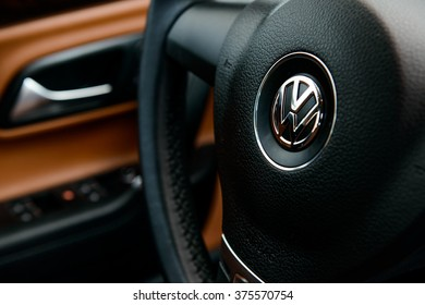Volkswagen Passat CC. SYKTYVKAR, RUSSIA - JULY 15, 2015: Parked the car in the center city open by owner and specially prepared for taking pictures.