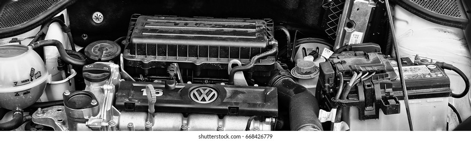 Volkswagen Polo engine, close-up