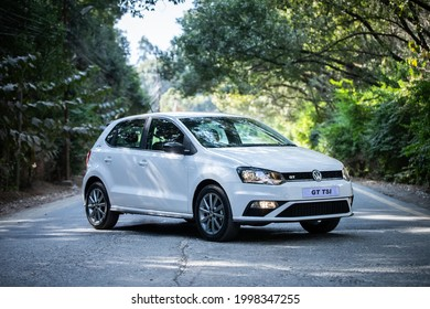 Volkswagen Polo GT TSI power with 1197 cc, the top variant the Polo's lineup.  It comes with a powerful engine configuration along with additional premium features. Kathmandu, Nepal. December 5, 2020.