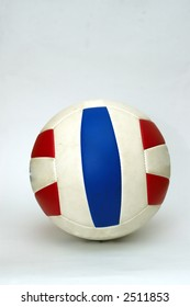 A Volley Ball isolated  against a white back ground