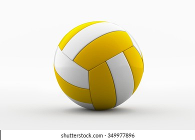 Volleyball  /  3D Illustration of a Volleyball  / yellow volley ball