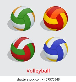 volleyball ball isolated on a white background as a sports and fitness symbol of a team leisure activity playing with a leather ball serving a volley and rally in competition tournaments.