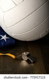 Volleyball Ball and Whistle