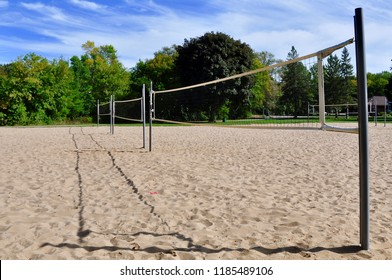 Volleyball court outdoor