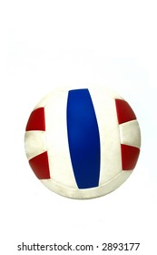 A volleyball isolated on white background