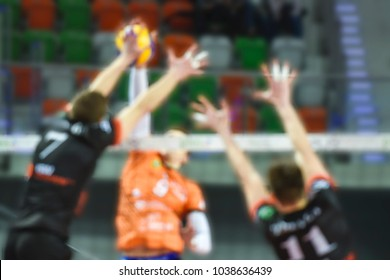 volleyball match - intentional blurred