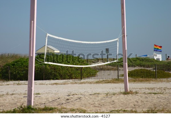 volleyball net at the beach