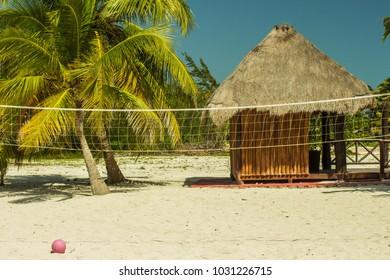 Volleyball on the Beach in Costa Maya