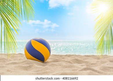 Volleyball on tropical beach
