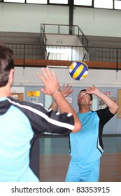 volley-ball player in action