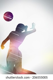 Volleyball sport invitation advert background with empty space