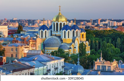 Volodymyr cathedral in the center of Kiev, Ukraine