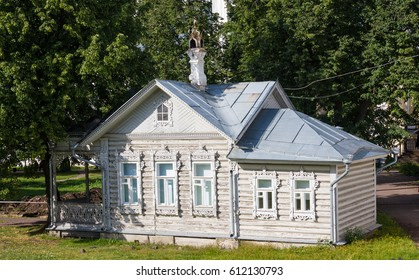 Vologda, Russia - August  15, 2016: Summer house. Museum management Vologda Kremlin. Russia, Vologda region, Vologda