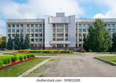 Vologda, Russia - August 21, 2016: Kozlenskaya street, house 6. Vologda regional Duma