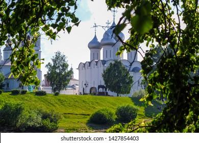 Vologda, Russia - June, 8, 2019: veiw to Vologda Kremlin, Russia