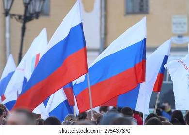 Vologda, RUSSIA -?? MARCH 10: demonstration of the Crimea to Russia reunion on March 10, 2014, in Vologda, Russia