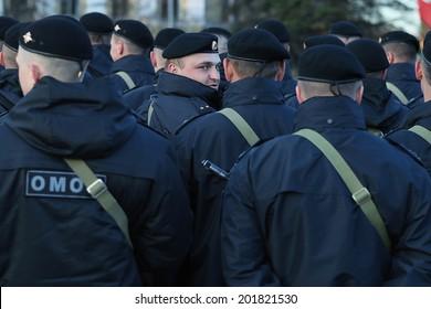 Vologda, RUSSIA - MAY 8: Dress rehearsal of Military Parade in Vologda on MAY 8, 2014, in Vologda, Russia