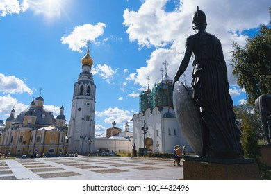 VOLOGDA,RUSSIA-JULY 2, 2017: View of the Vologda Kremlin from the Kremlin Square.