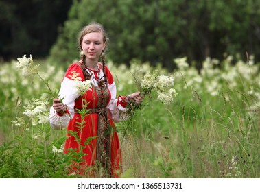 Volokolamsk, Moscow Region/Russia - June 27, 2010: St.John the Baptist's Day, traditional early slavs' rituals and ceremonies.