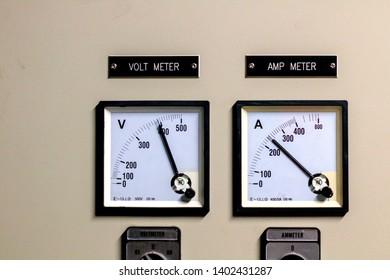 Volt meter and amp meter