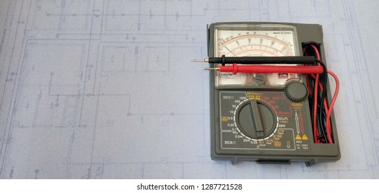Volt meter for check power vlotage, electric system, electronic.