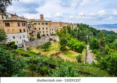 VOLTERRA, ITALY - CIRCA AUGUST 2016: High dynamic range (HDR) View of the city of Volterra
