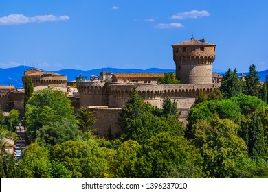 Volterra medieval town in Tuscany Italy - architecture background