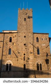 Volterra, Pisa, Tuscany, Italy, old buildings in the medieval city