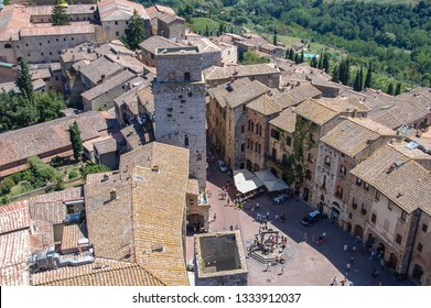 Volterra, Tuscany, Italy. Volterra is a walled mountain top town in the Tuscany region of Italy. Its history dates from before the 7th century BC