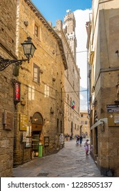 VOLTERRA,ITALY - SEPTEMBER 20,2018 - In the streets of Volterra. History of Volterra dates from before the 7th century BC.