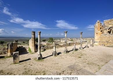 Volubilis roman ruins, Morocco, North Africa