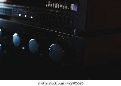 volume control knob of  hi-fi amplifier
