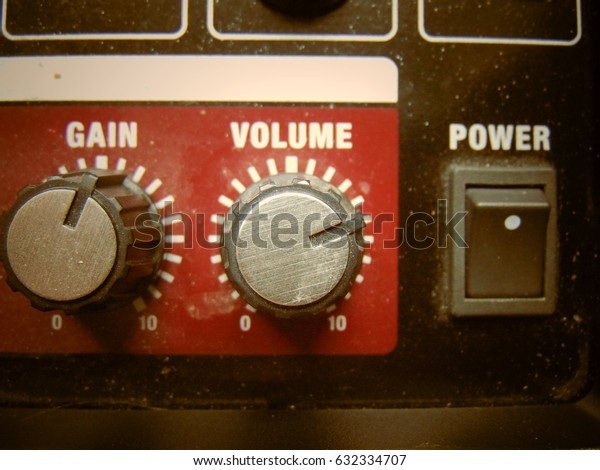 Volume knob close up background