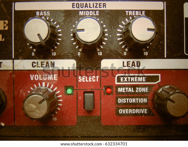 Volume knob with equalizer cool background